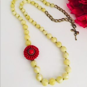 Fossil genuine natural stones necklace